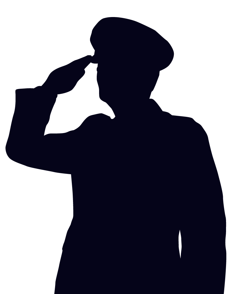 805x1001 Woman Soldier Salute Silhouette