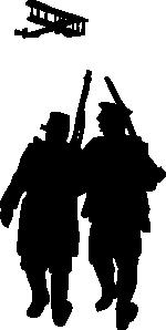 150x298 World War I Silhouette Clip Art