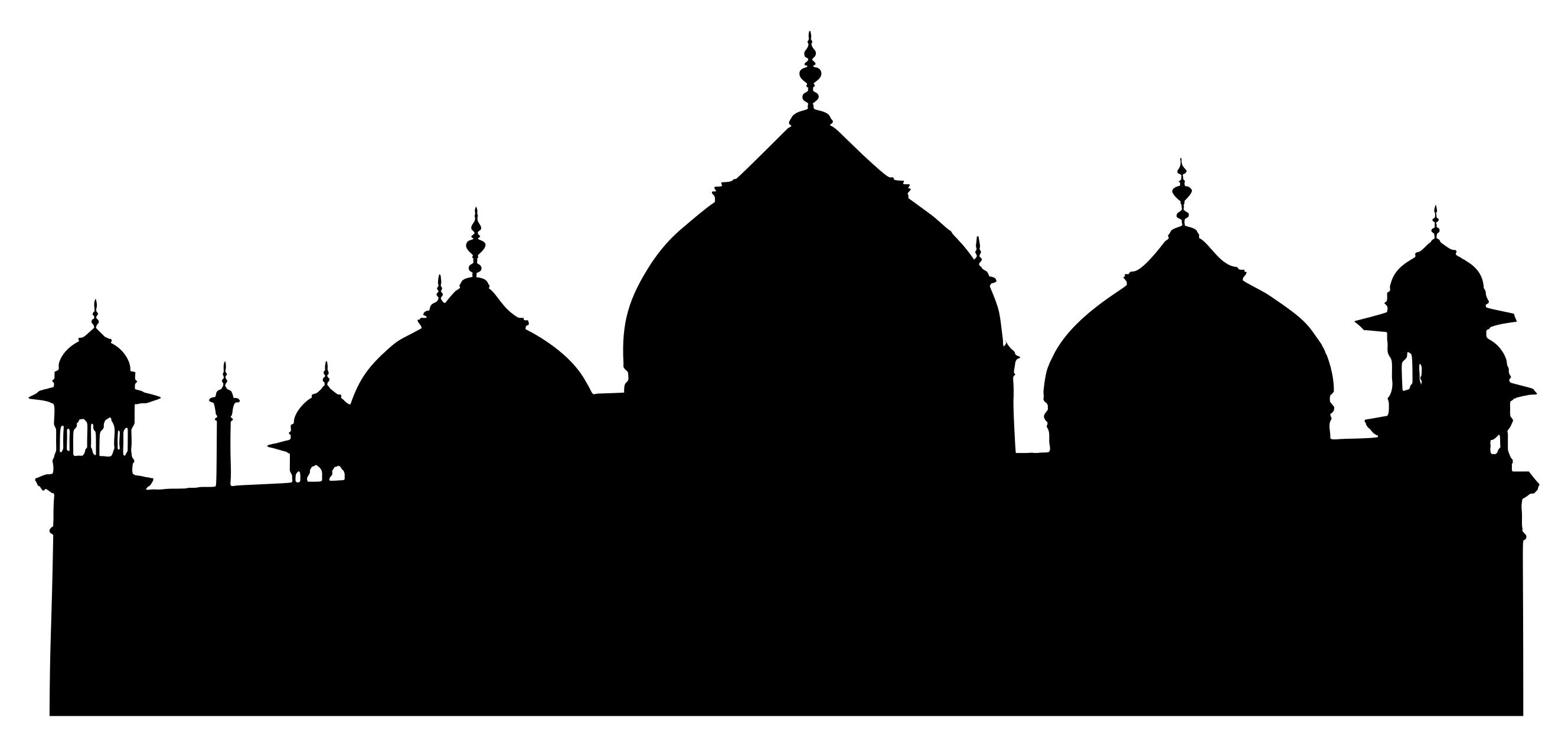 2656x1265 Mosque Silhouette Clipart
