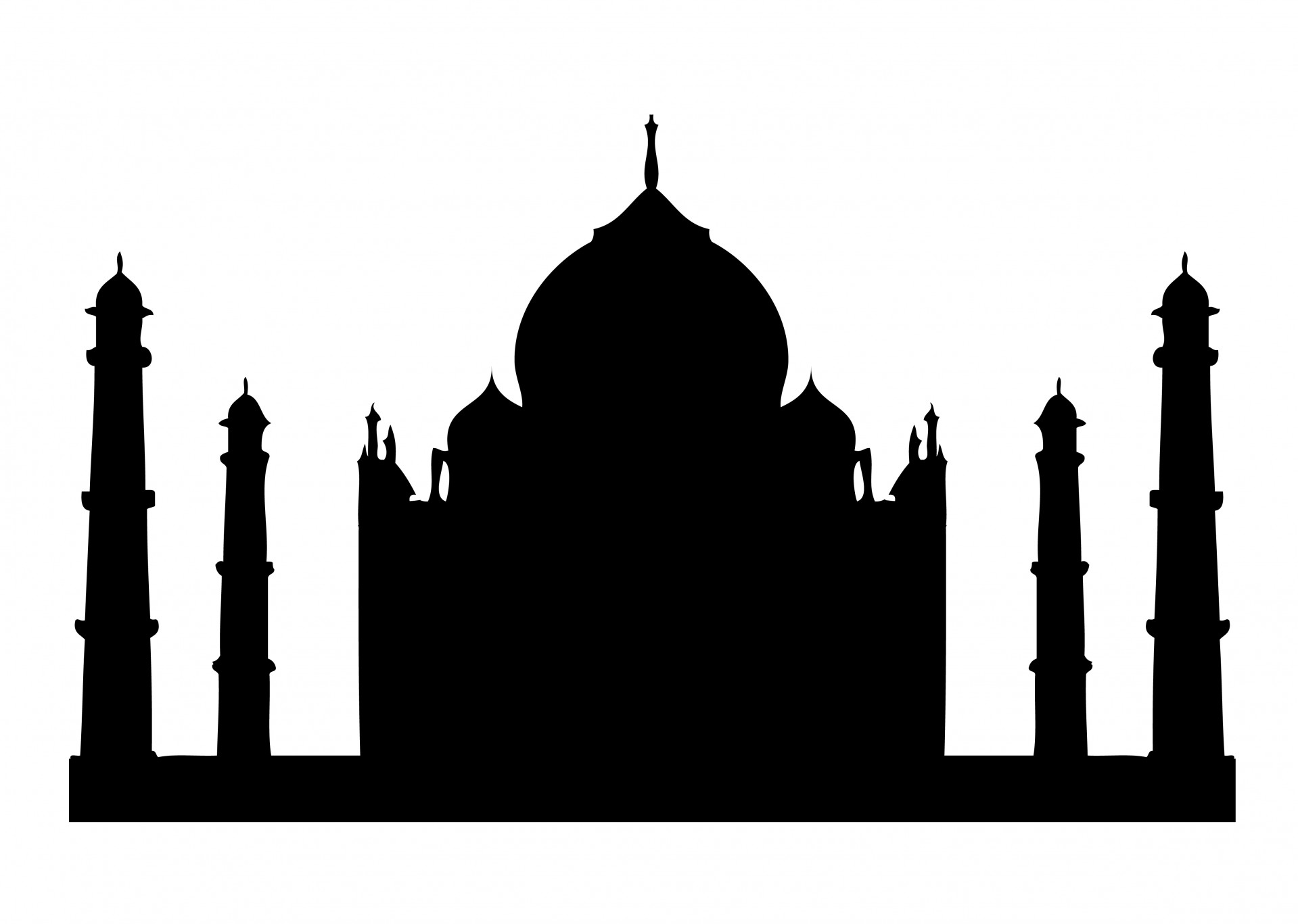 1919x1367 Taj Mahal Silhouette Clipart Free Stock Photo