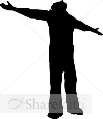 337x388 Worship Praise Silhouette