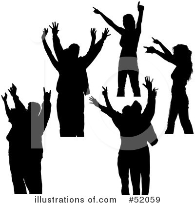 400x420 Youth Worship Silhouette Clipart