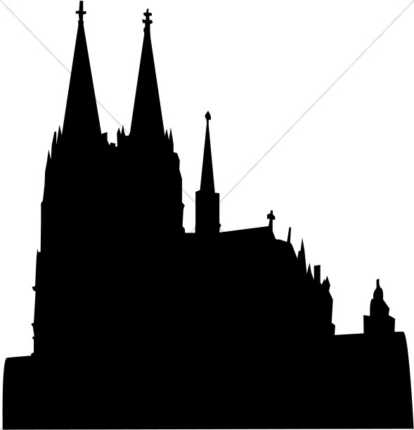589x612 Cathedral Silhouette Church Clipart