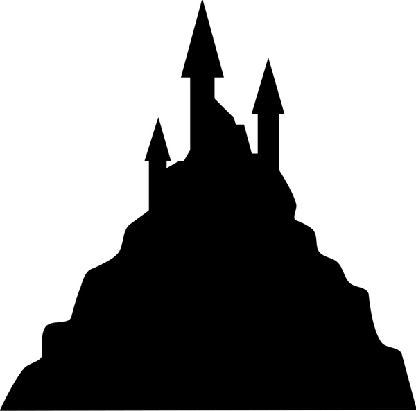 600x593 Spooky Castle Silhouette Free Vector In Open Office Drawing Svg