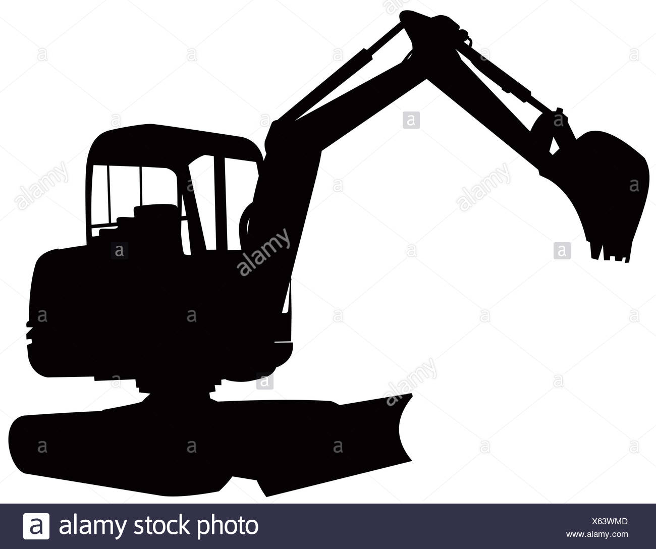 1300x1088 Silhouette Excavator Cut Out Stock Images Amp Pictures
