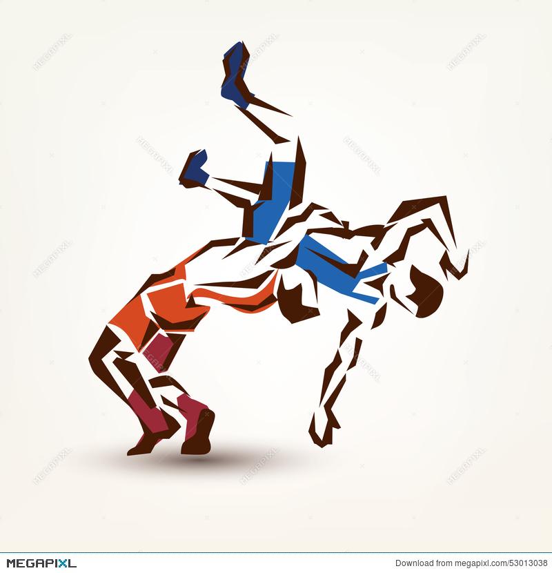 800x830 Wrestling Symbol Illustration 53013038