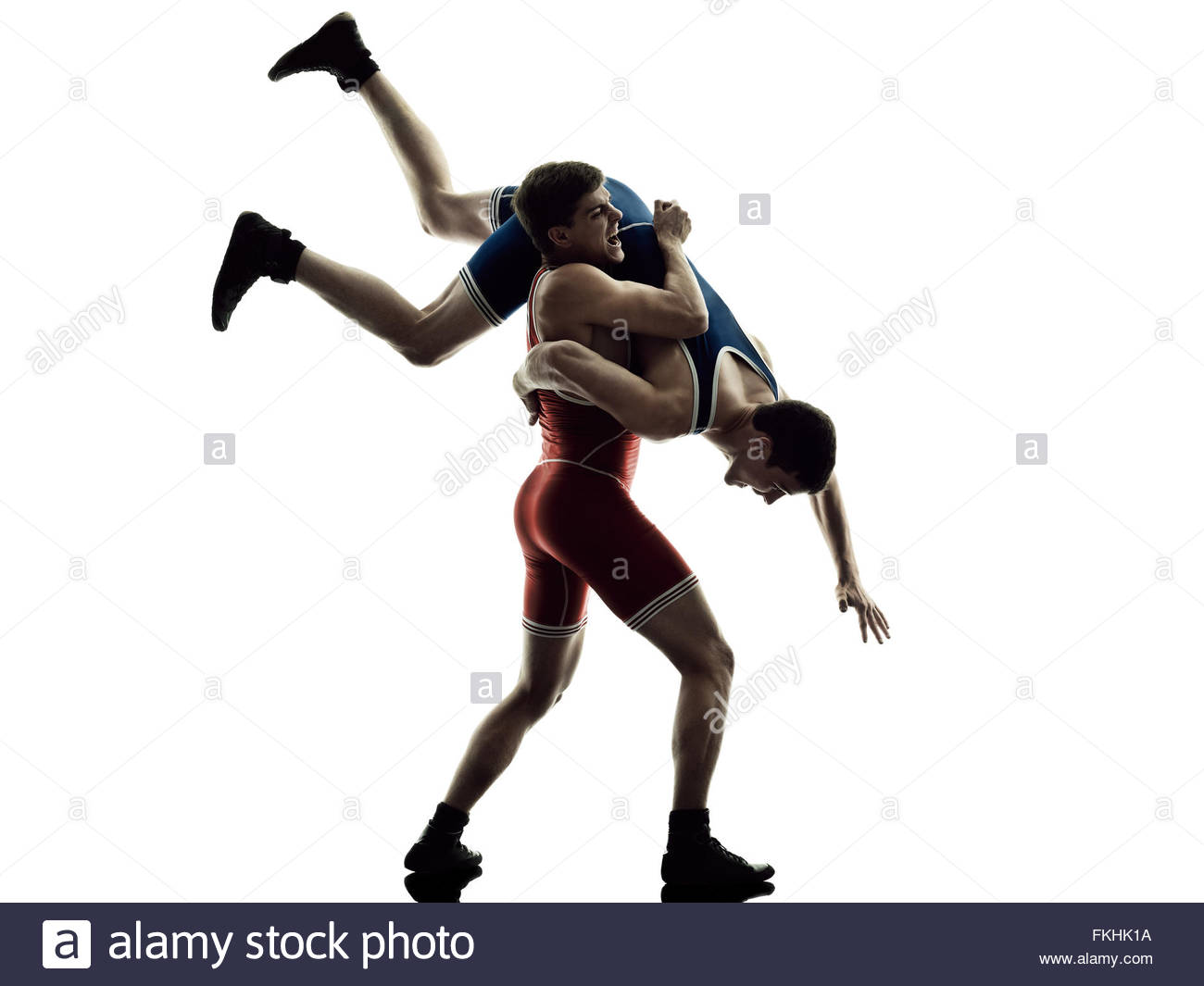 1300x1065 Two Caucasian Wrestlers Wrestling Men On Isolated Silhouette White