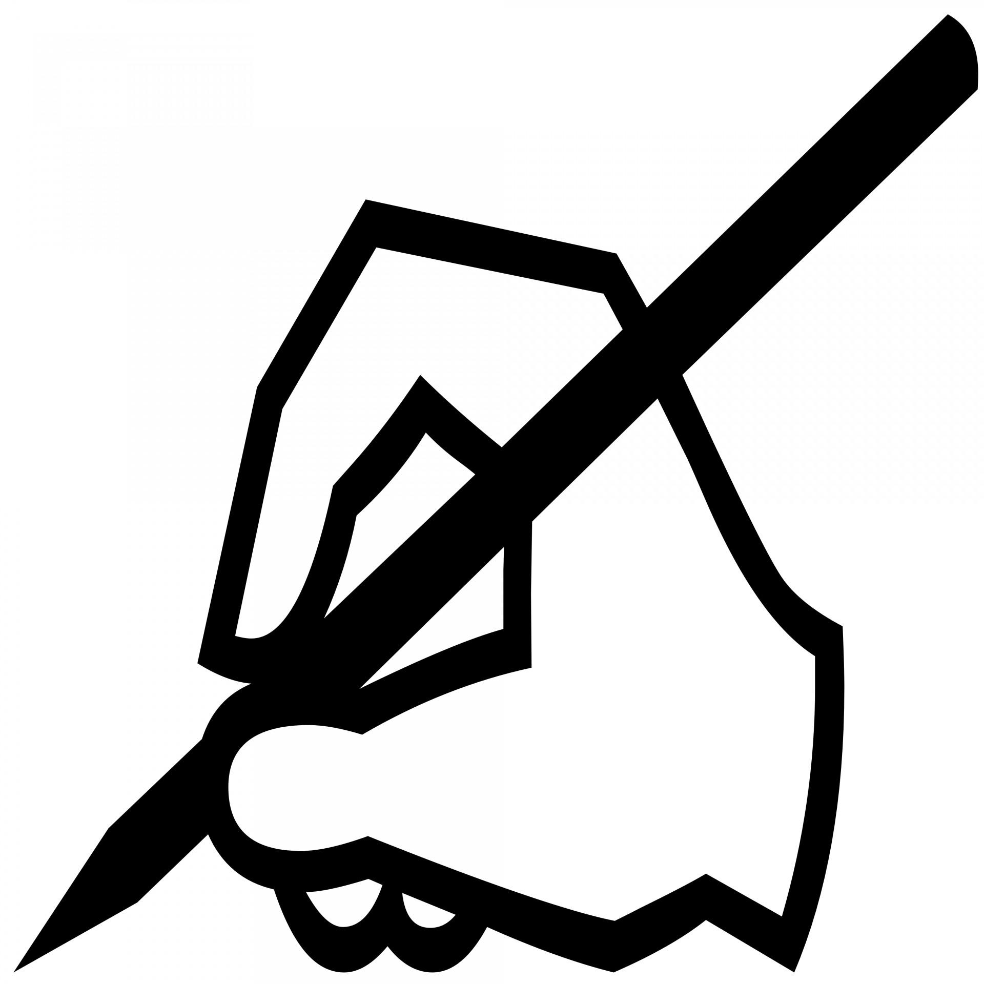 1920x1920 Writing Hand Silhouette Free Stock Photo