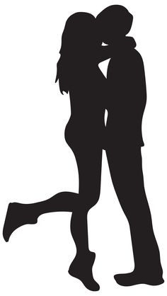 236x418 Cute Couple Silhouettes Clip Art Image Valentines Day