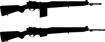 353x143 Rifle Silhouette Clip Art
