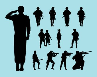 340x270 Soldier Silhouette Etsy