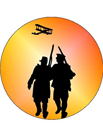 334x445 X24 1.5 World War 1 Ww1 Cup Cake Toppers Decorations On Edible