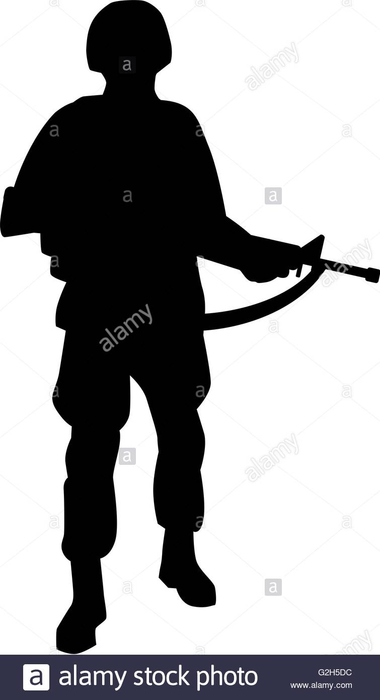 755x1390 Army Soldier Silhouette Black And White Stock Photos Amp Images