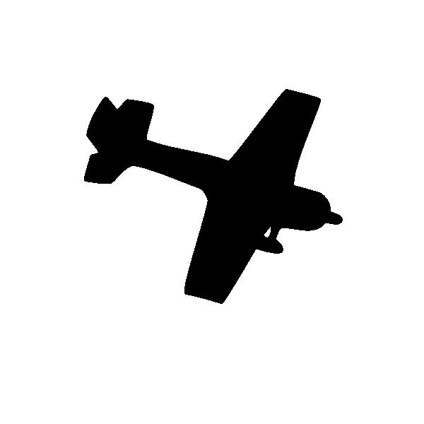 600x600 Silhouette Plane Clip Art