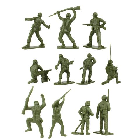 480x480 Bmc Classic Green Plastic Army Men 28pc Ww2 Soldier Figures Us
