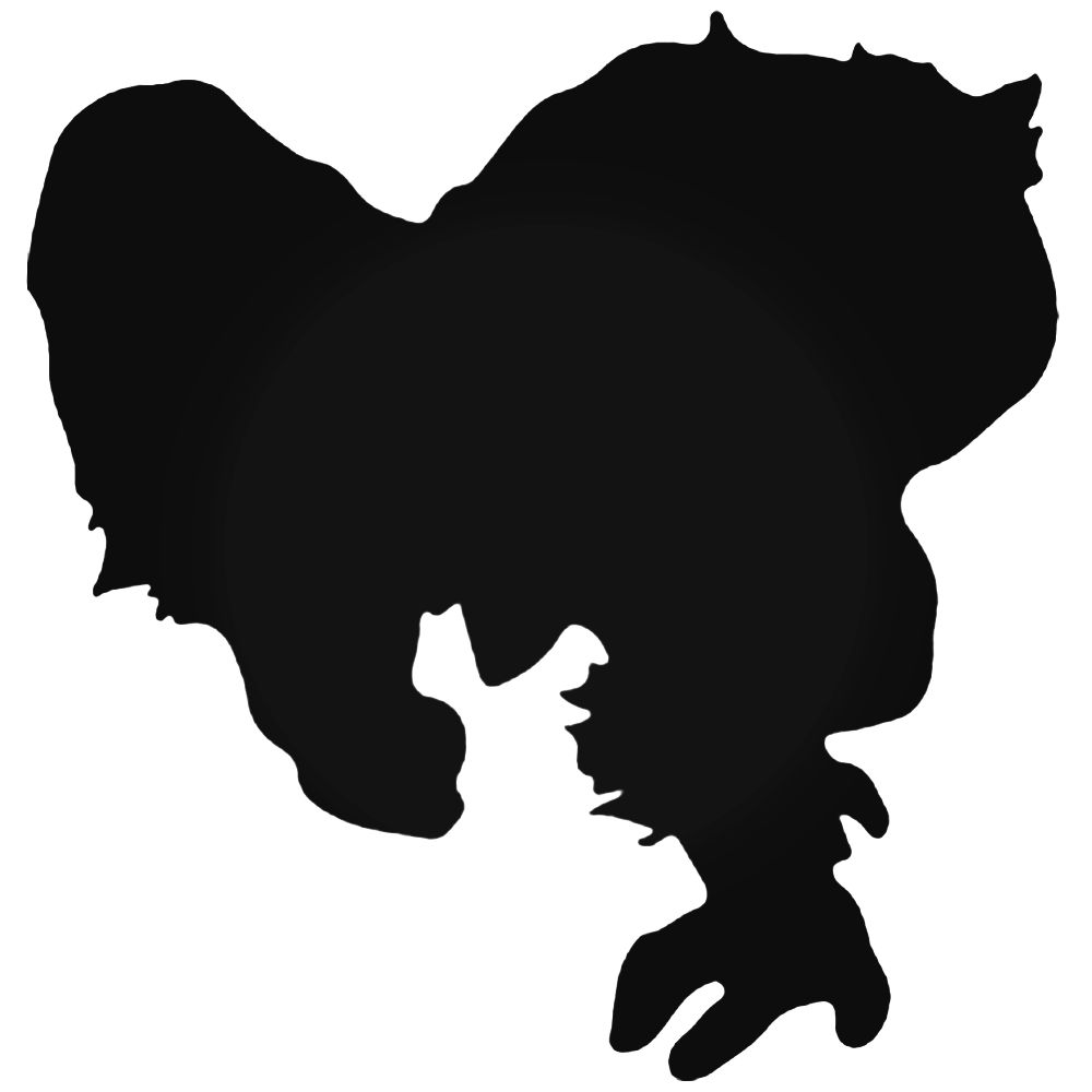 1000x1000 Men Beast Silhouette Decal