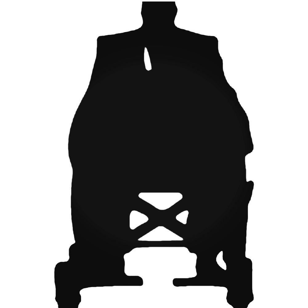 1000x1000 Men Charles Xavier Silhouette Decal