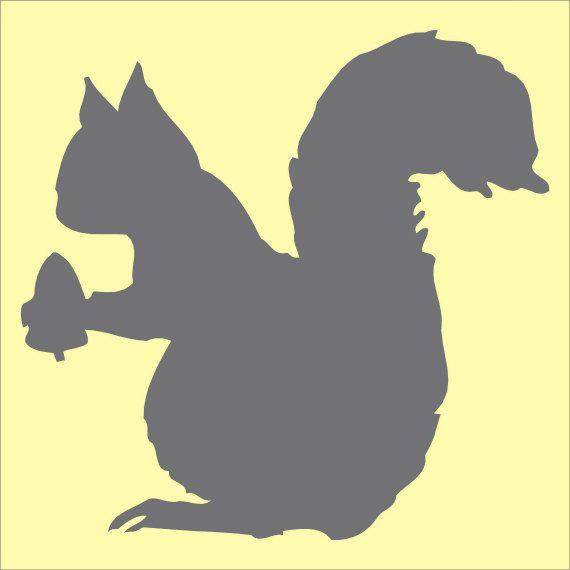 570x570 Squirrel With Acorn Stencil