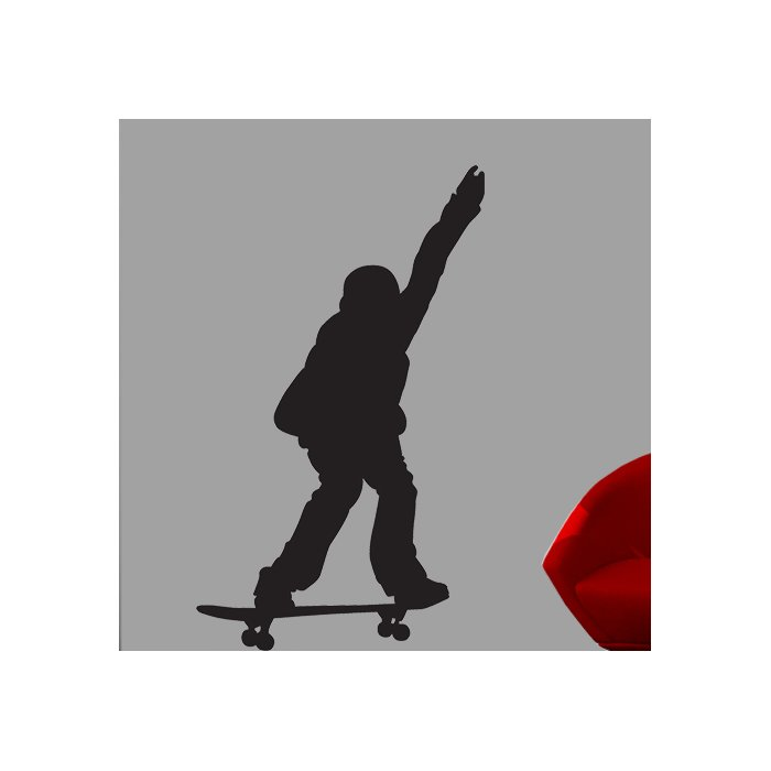 700x700 Wallhogs Skateboard Silhouette X Cutout Wall Decal Amp Reviews