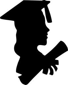 239x300 Die Cut Silhouette Graduation Female X 8 For Cardmaking