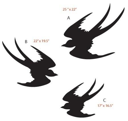 450x425 Flock Of Birds Clipart Stencil Art
