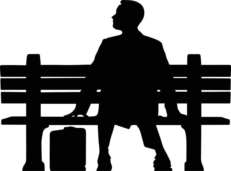 800x591 Forrest Gump Silhouette Sitting On Bench Posters By Upbeat
