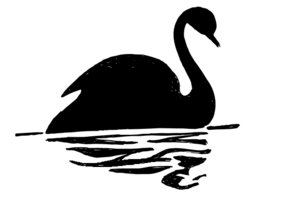 297x222 Swan Silhouette Png, Svg Clip Art For Web