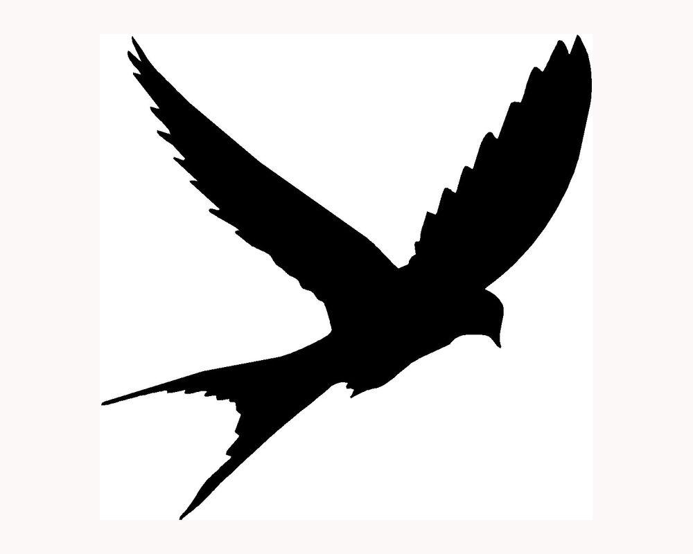 1000x800 Sparrow Silhouette Clipart