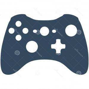 300x300 Stock Illustration Xbox Game Controller Vector Silhouette Ideal