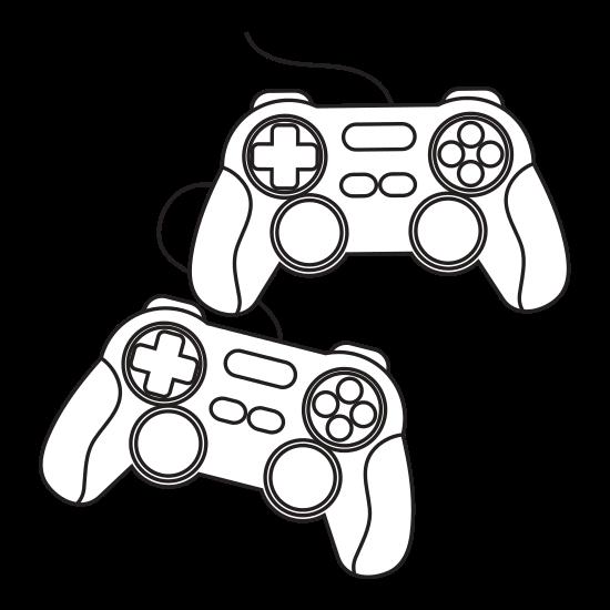 550x550 Videogame Control Silhouette
