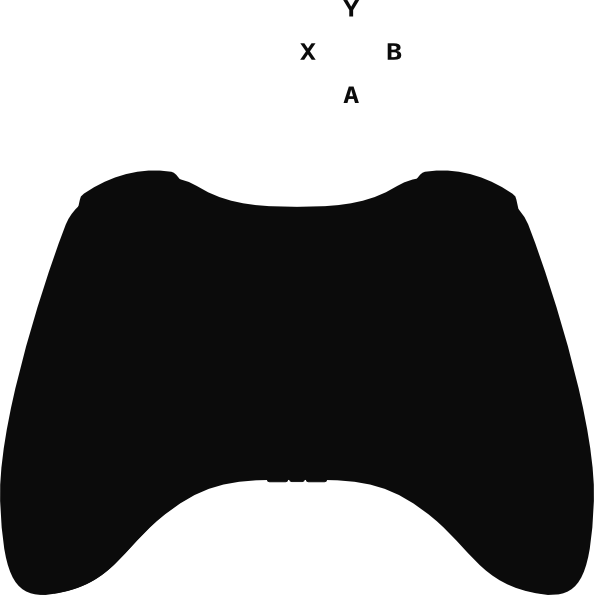 594x595 Xbox 360 Controller Silhouette Clip Art