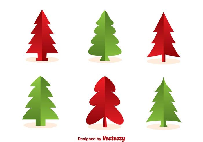 700x490 Christmas Tree Silhouette Vectors