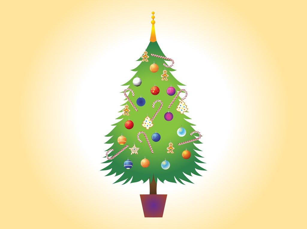 1024x765 Christmas Tree Vector Image Vector Art Amp Graphics