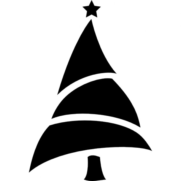 626x626 Christmas Tree Silhouette Icons Free Download