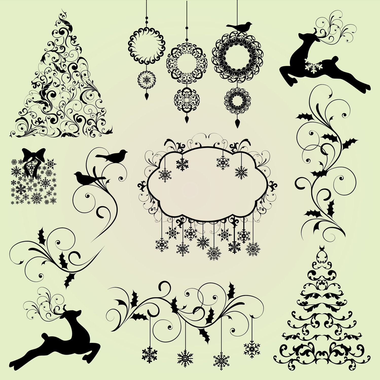 1499x1500 Clip Art Christmas Tree Silhouette Clip Art