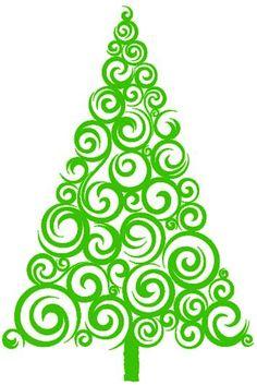 236x353 Christmas Tree Silhouette Clipart