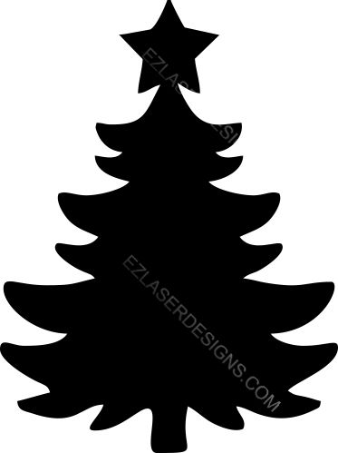 373x499 Christmas Tree Silhouette Ez Laser Designs