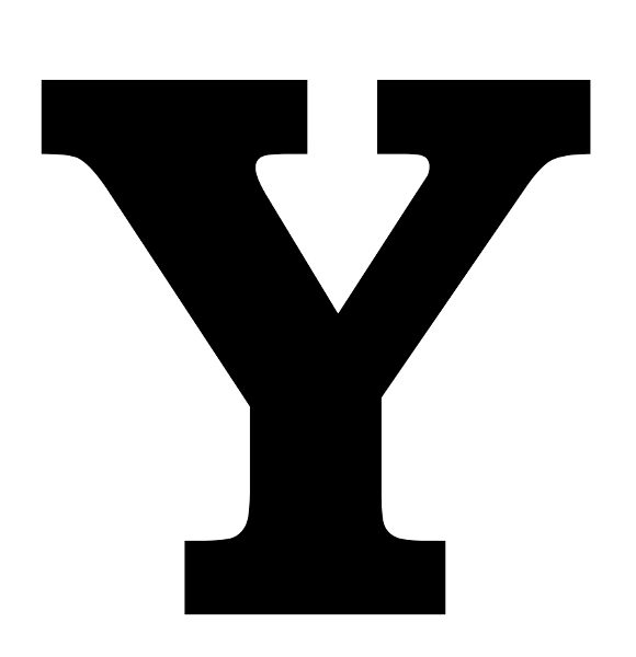 580x600 Printable Letter Y Silhouette Print Solid Black Letter Y