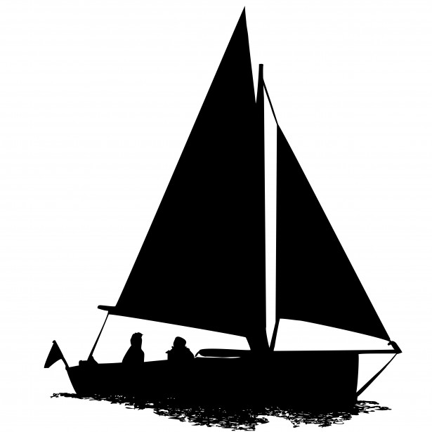 615x615 Sailing Boat Silhouette Clipart Free Stock Photo