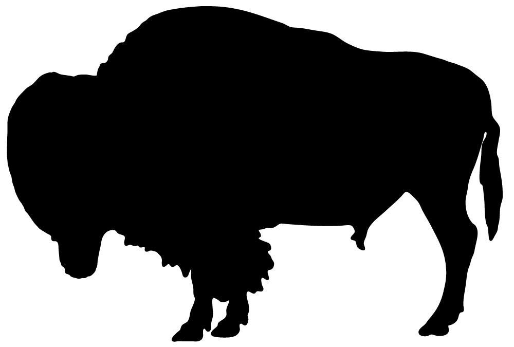 1000x675 Animal Silhouette Bison Style 3