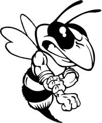 200x242 Hornet, Yellow Jacket, Bee Mascot Decal Sticker Cricut