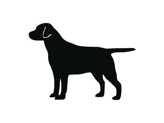 570x428 Labrador Retriever Dog Breed Silhouette Custom Die Cut Vinyl