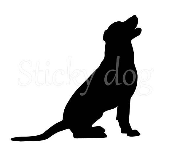 570x522 Labrador Retriever Silhouette Sticker From Stickydog On Etsy Studio