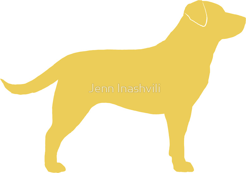 800x564 Yellow Labrador Retriever Silhouette(S) Stickers By Jenn