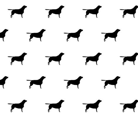 470x403 Black Labrador Silhouette Fabric