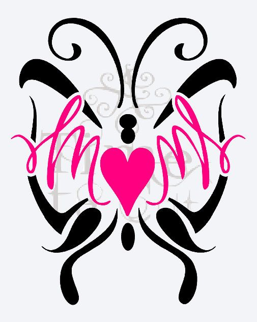 505x632 Mom With Butterfly Decal Valentine Day Wall Decal Window