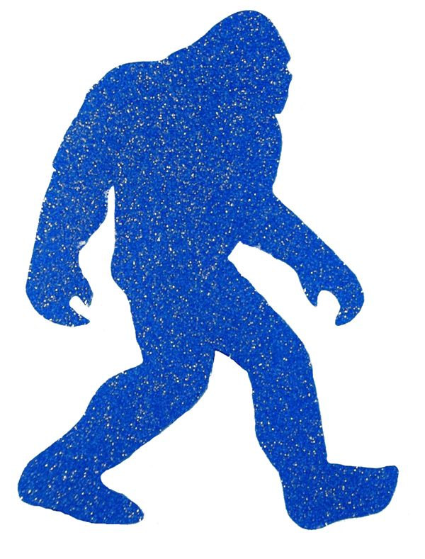600x789 Die Cut Vinyl Decal Glitter Yeti Bigfoot Sasquatch Women