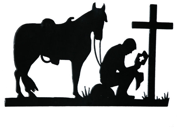 570x429 Praying Cowboy Cowboys, Silhouettes And Cricut
