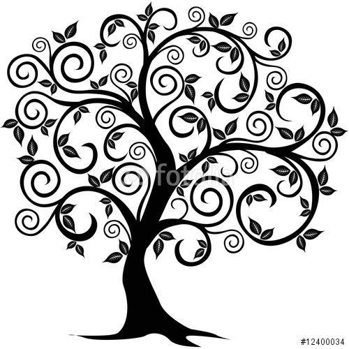 Yew Tree Silhouette
