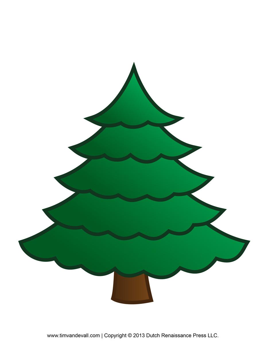 927x1200 Blank Christmas Tree Clip Art